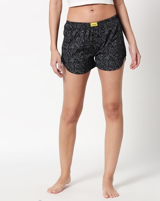 Shop Night Camo Women's Printed Boxers-Back