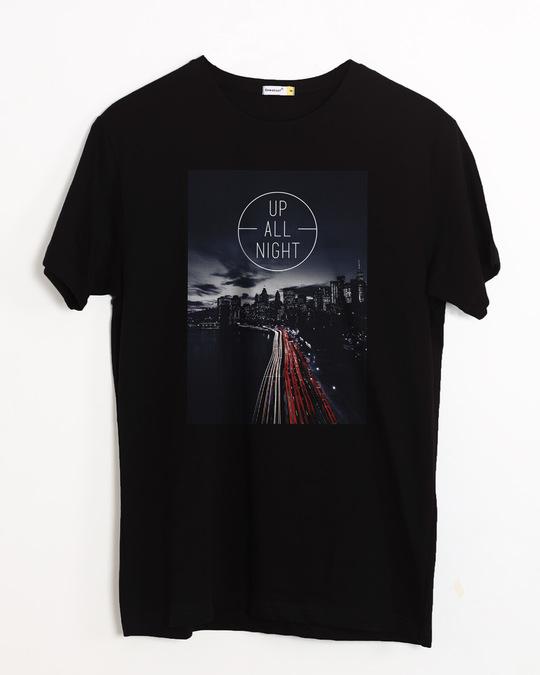 Shop Night City Half Sleeve T-Shirt-Front