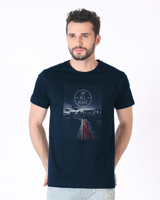 Shop Night City Half Sleeve T-Shirt-Back