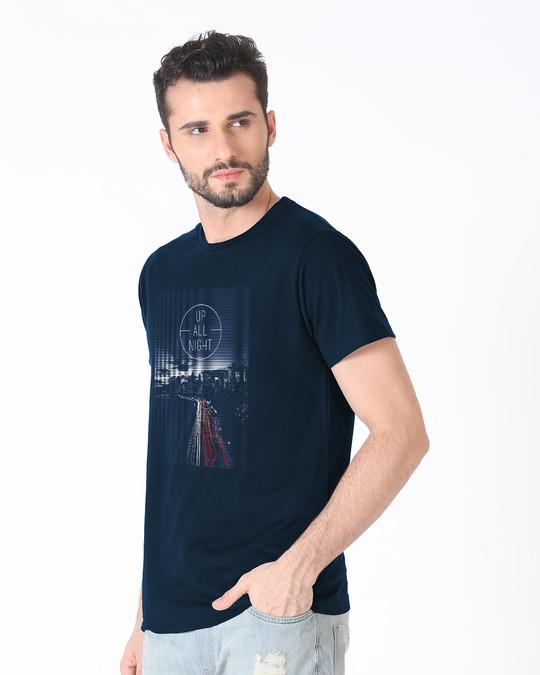 Shop Night City Half Sleeve T-Shirt-Full