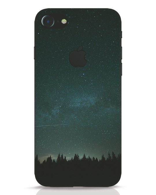 Shop Night Star iPhone 7 Logo Cut Mobile Cover-Front