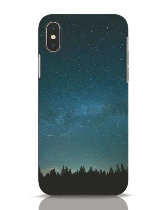 Shop Night Star iPhone X Mobile Cover-Front