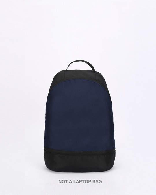 Shop Night Time Blue Plain Small Backpack-Front
