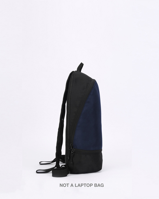 Shop Night Time Blue Plain Small Backpack-Design