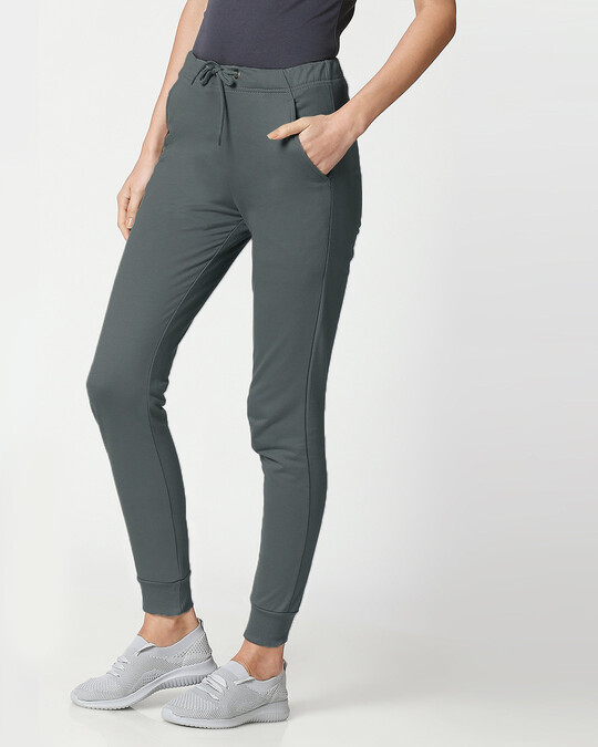 Shop Nimbus Grey Casual Jogger Pant-Back
