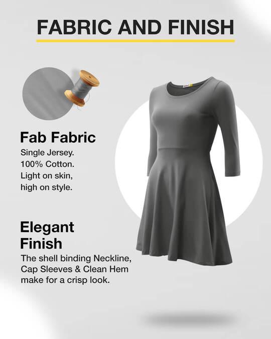 Shop Nimbus Grey Flared Dress