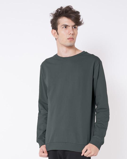 Shop Nimbus Grey Fleece Sweater-Back