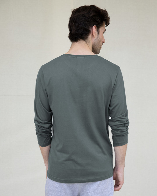 Shop Nimbus Grey Full Sleeve T-Shirt-Full