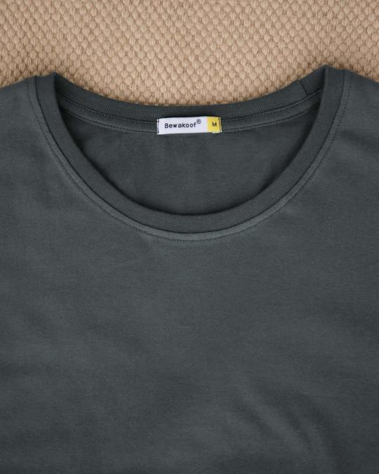 Shop Nimbus Grey Half Sleeve T-Shirt