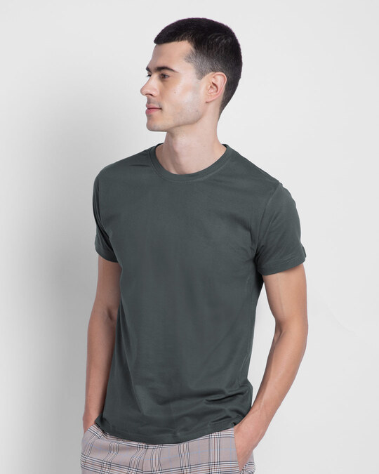 Shop Nimbus Grey Half Sleeve T-Shirt-Front