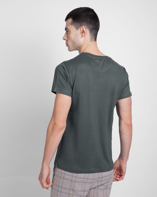 Shop Nimbus Grey Half Sleeve T-Shirt-Back