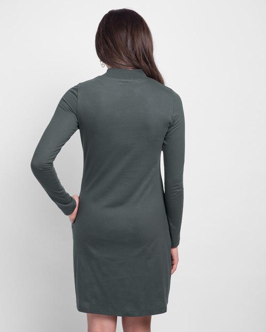 Shop Nimbus Grey High Neck Pocket Dress-Design