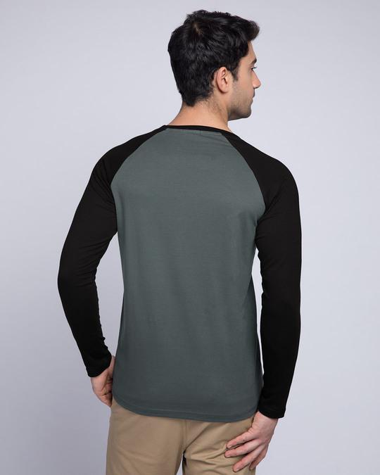 Shop Nimbus Grey-Jet Black Full Sleeve Raglan T-Shirt-Design