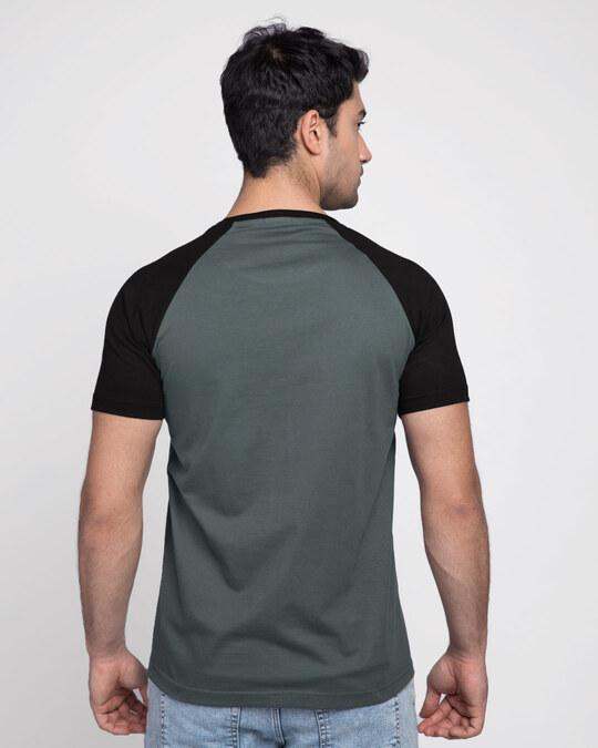 Shop Nimbus Grey-Jet Black Half Sleeve Raglan T-Shirt-Design