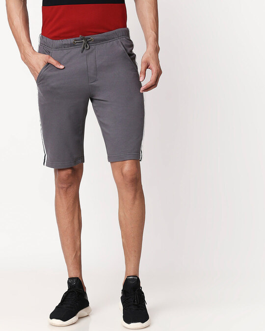 Shop Nimbus Grey Men's Side Panel Shorts-Back