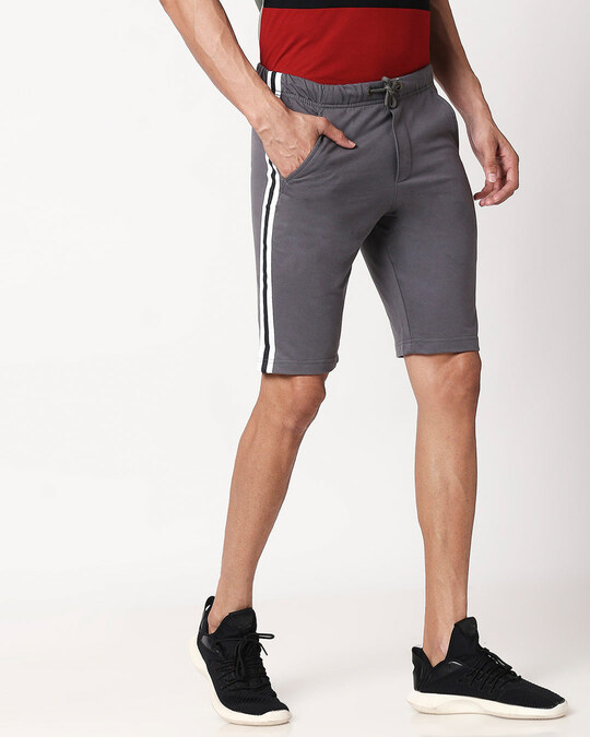 Shop Nimbus Grey Men's Side Panel Shorts-Design