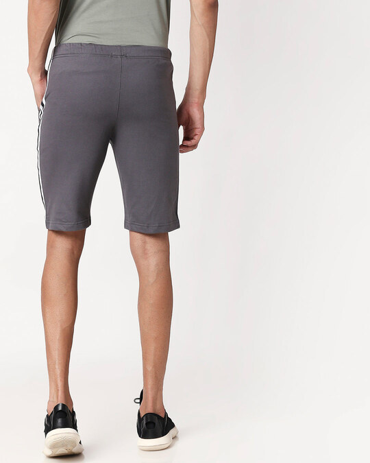 Shop Nimbus Grey Men's Side Panel Shorts-Full