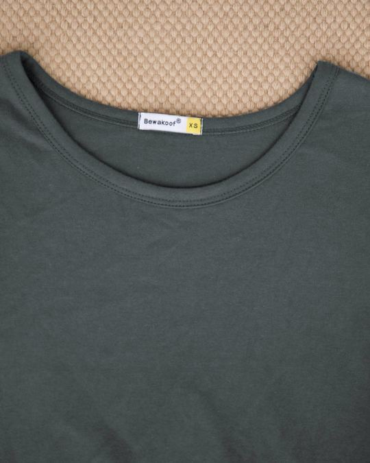Shop Nimbus Grey Round Neck 3/4th Sleeve T-Shirt