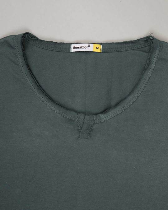 Shop Nimbus Grey Slit Neck Full Sleeve Henley T-shirt