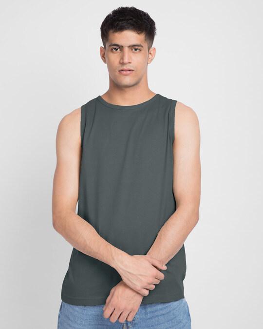 Shop Nimbus Grey Vest-Front