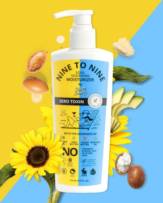 Shop Nine To Nine Natural Body Lotion   With Argan Oil, Shea Butter, Cacao Butter & Avocado Oil, For All Skin Types   For Men And Women  175 Ml-Front
