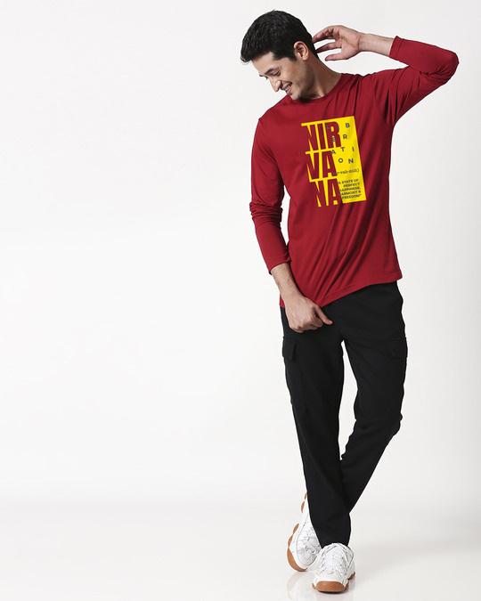Shop Nir vah nuh Full Sleeve T-Shirt Cherry Red-Design