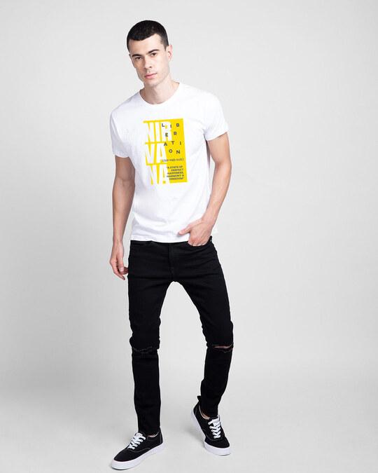 Shop Nir vah nuh Half Sleeve T-Shirt White-Design