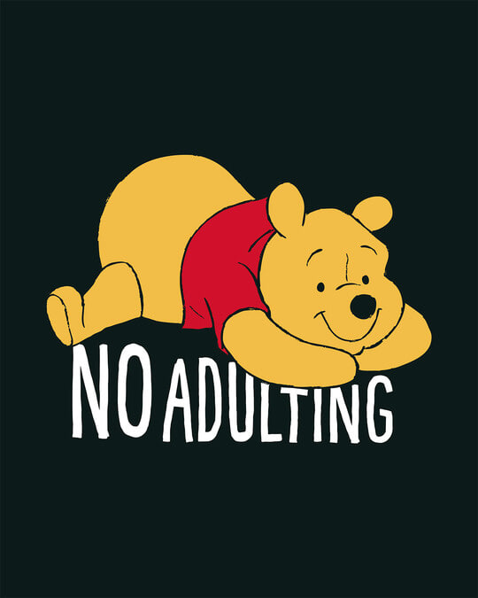 Shop No Adulting Basic Round Hem T-Shirt (DL)