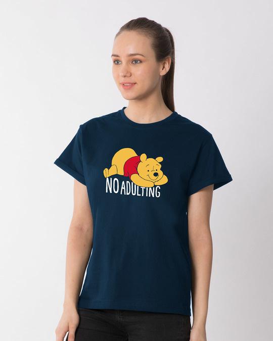 Shop No Adulting Boyfriend T-Shirt (DL)-Back