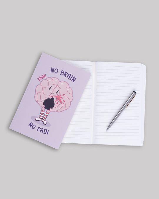 Shop No Brain Notebook-Back