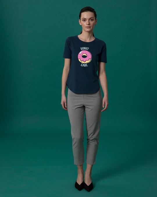 Shop No Care Basic Round Hem T-Shirt