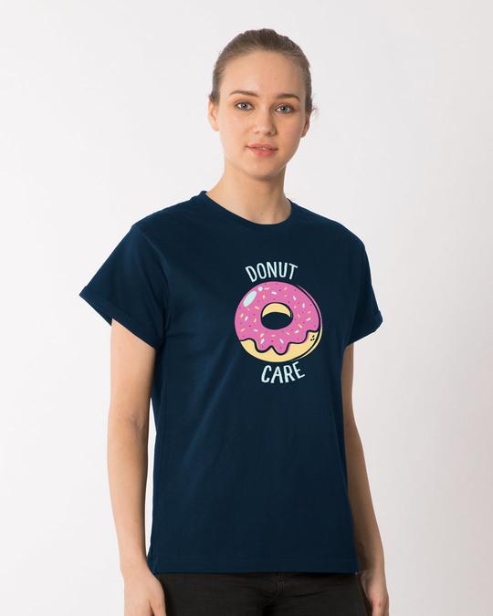 Shop No Care Boyfriend T-Shirt-Back