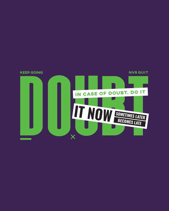 Shop No Doubt Do It  Round Neck Vest Parachute Purple  -Full