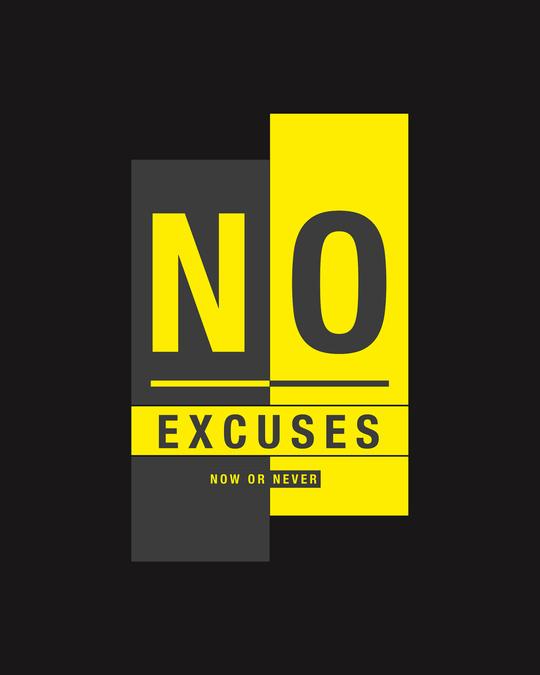 Shop No Excuses Block Half Sleeve T-Shirt Black-Full