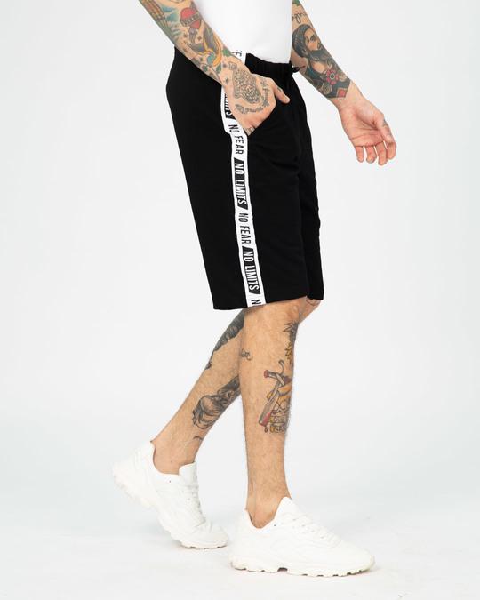Shop No Fear No Limits Sports Trim Fleece Shorts-Back