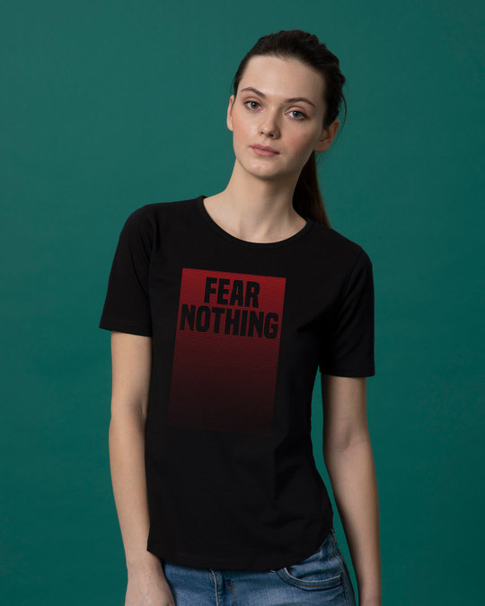 Shop No Fears Basic Round Hem T-Shirt-Front
