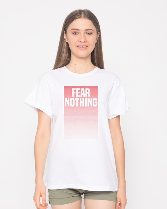 Shop No Fears Boyfriend T-Shirt-Front