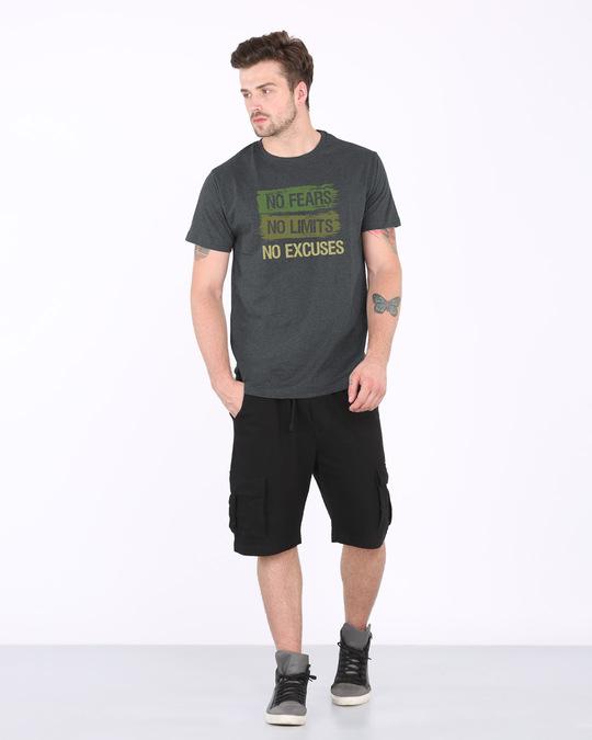 Shop No Fears No Excuses Half Sleeve T-Shirt-Full