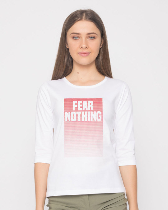 Shop No Fears Round Neck 3/4th Sleeve T-Shirt-Front