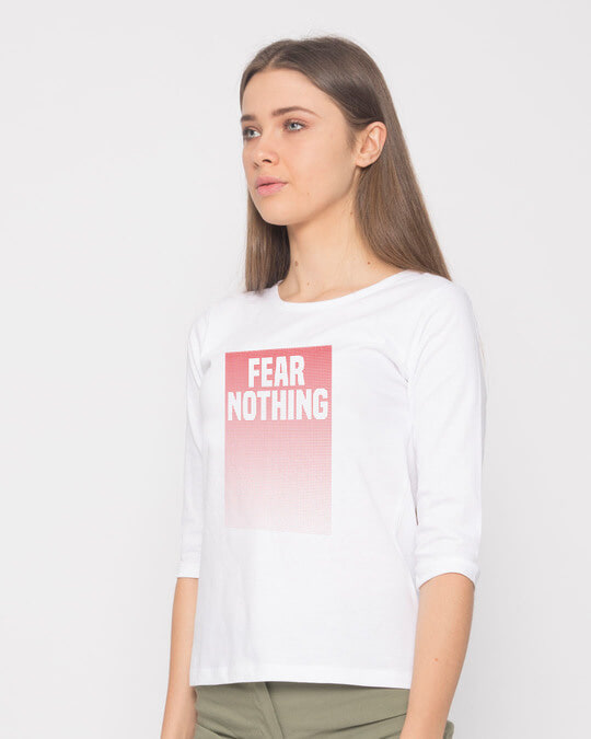 Shop No Fears Round Neck 3/4th Sleeve T-Shirt-Back