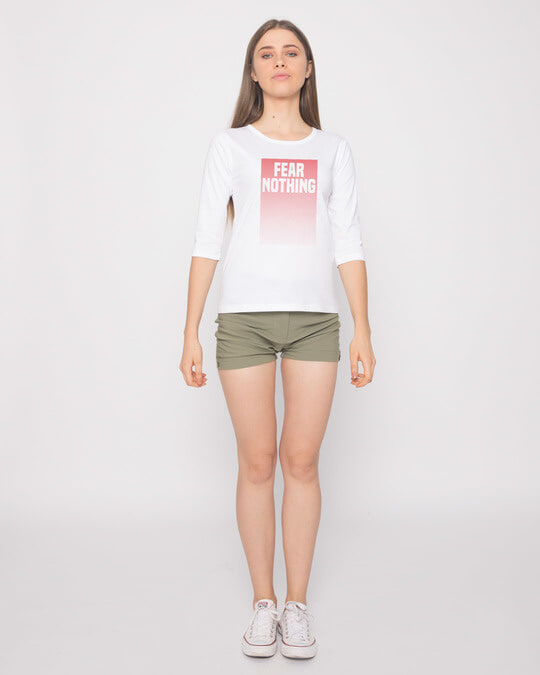Shop No Fears Round Neck 3/4th Sleeve T-Shirt