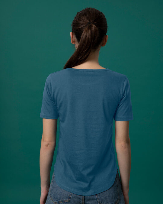 Shop No Filter Basic Round Hem T-Shirt-Full