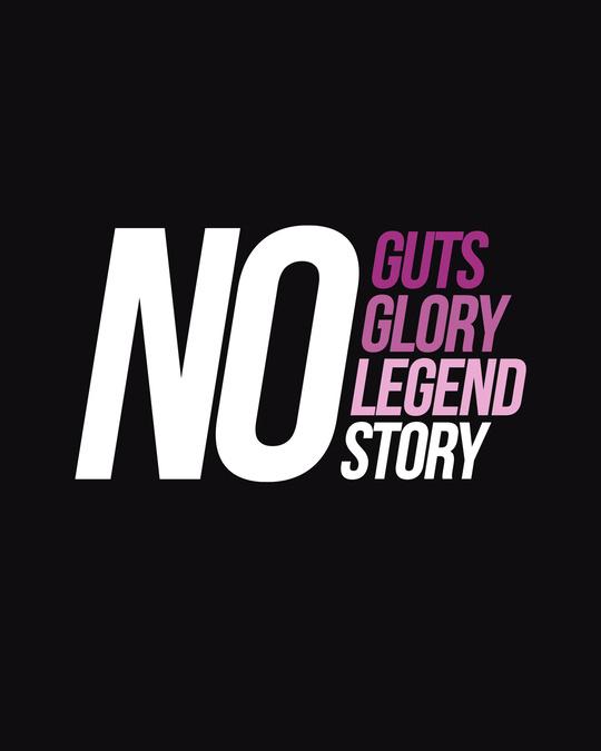 Shop No Guts Glory Half Sleeve T-Shirts Black