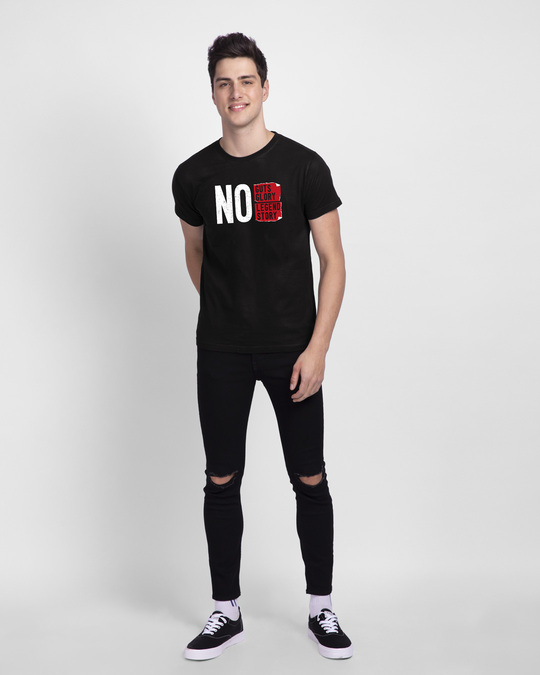 Shop No Legend, No Story Half Sleeve T-Shirt Black-Full