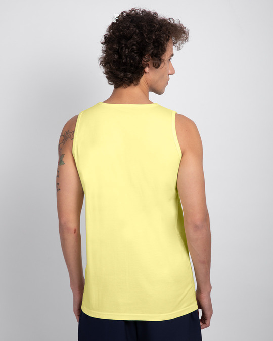 Shop No Legend, No Story Round Neck Vest Pastel Yellow-Back