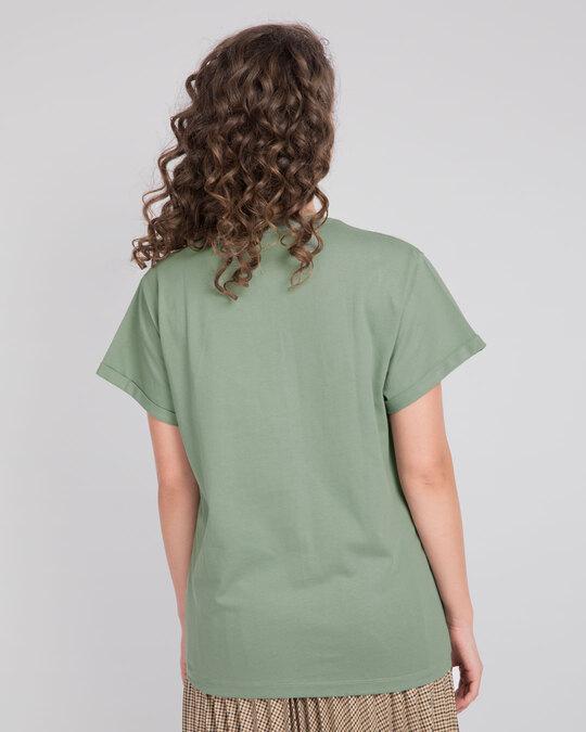 Shop No Limits To Fly Boyfriend T-Shirt Laurel Green-Back