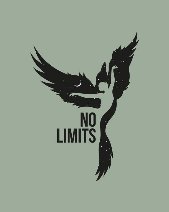 Shop No Limits To Fly Boyfriend T-Shirt Laurel Green-Full