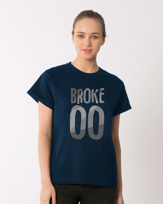 Shop No Money Boyfriend T-Shirt-Front