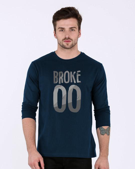 Shop No Money Full Sleeve T-Shirt-Front