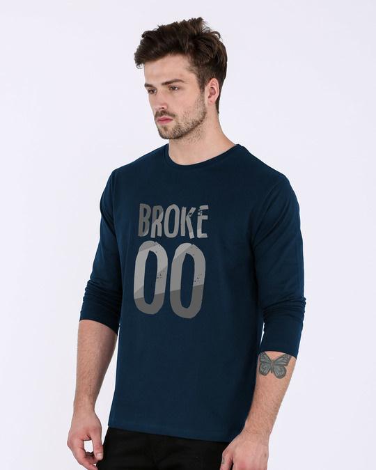 Shop No Money Full Sleeve T-Shirt-Back